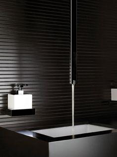 Bathroom. Square ceiling faucet. Gessi RETTANGOLO