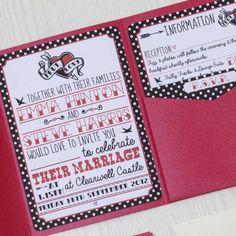 Free Rockabilly Wedding Invitation Templates Google Search
