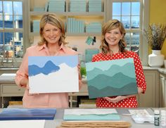 Mountain painting.  So obvious and easy, why haven't I done this? I wonder if I could replicate our skyline?