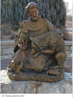Saint Francis Sculpture: Riverwalk: Pueblo, Colorado (CO) by Floyd Muad'Dib… Catholic Art, Catholic Saints, Patron Saints, Religious Art, Pueblo Colorado, Francis Of Assisi, St Francis, Ste Claire, Patron Saint Of Animals