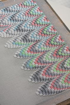 Bargello clutch :: bugle beads | Flickr - Photo Sharing!