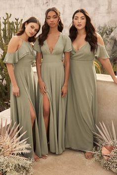 Online dress shopping has never been simpler or more stylish! We have the best in unique, trendy fashion for women at affordable prices. Shop dresses for women! Olive Green Bridesmaid Dresses, Bridesmade Dresses, Mismatched Bridesmaid Dresses, Olive Green Dresses, Wedding Bridesmaid Dresses, Tiffany Blue Bridesmaids, Mint Green Bridesmaids, Sage Green Dress, Sage Green Wedding