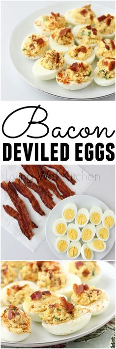 Combine two of the best breakfast foods ever for this tasty Easter appetizer ~ Bacon Deviled Eggs from @memeinge