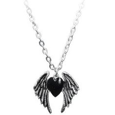 Blackheart necklace by Alchemy Gothic