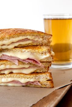 Epicure's Spiked Monte Cristo Sandwich Yummy Eats, Yummy Food, Yummy Yummy, Epicure Recipes, Cooking Recipes, Monte Cristo Sandwich, Paleo Meal Plan, Game Day Snacks, Soup And Sandwich