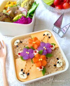 {5E5AF1B1-246A-45FA-9F20-B2FD578CE22D} Cute Bento Boxes, Japanese Food Art, Kawaii Bento, Cute Food Art, Soft Foods, Cute Desserts, Food Humor, Kids Nutrition, C'est Bon