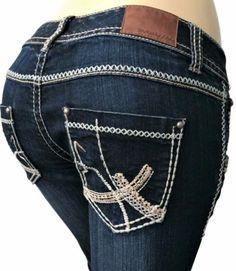 Maurices-Womens-Jeans-Sz-7-8-Straight-Dark-Blue-Indigo-Denim