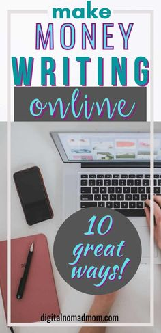 Leave your 9-5 job and learn how to make money writing online! Get started with these 10 incredible ideas. Make money blogging, becoming a freelance writer or copywriter, learn how to proofread, or write an eBook to make money!