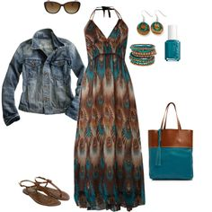 brown and teal - Polyvore