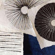 Circular Stitching on Paper by Karin Lundström