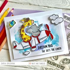 June 2018 Release Day So Fly + Giveaway! - Neat and Tangled Flying Card, Neat And Tangled, Gift Certificates, Special Guest, Cute Cards, Clear Stamps, Dream Big, More Fun, Cardmaking
