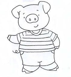 Portal Escola: Sequência Didática os três porquinhos Nursery Rhyme Crafts, Nursery Rhymes, Pig Drawing, Pig Illustration, Three Little Pigs, Space Theme, Digital Stamps, Farm Animals, Cute Art