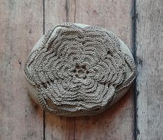 Flower Crochet Lace Stone Original Handmade Nature от Monicaj