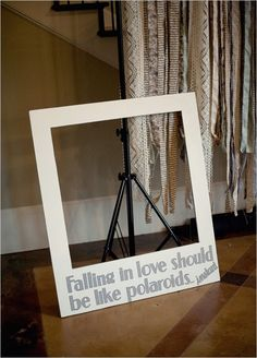 Wedding Photo Prop! Great idea for the guests!!!!