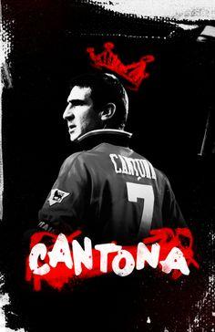 Manchester Is Red By Cristina Martinez Via Behance Eric Cantona Kingeric