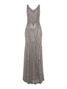 Stunning Silver wedding dress Vintage inspired loveliness