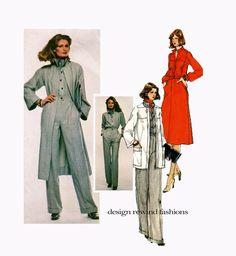 1970s VOGUE JUMPSUIT PATTERN Coat Jacket Dress Pattern Vogue 1519 Emanuel Ungaro Paris Original Size 10 UNCuT Vintage Womens Sewing Patterns by DesignRewindFashions on Etsy