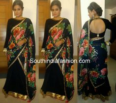 Priyamani in Half Saree ~ Celebrity Sarees, Designer Sarees, Bridal Sarees, Latest Blouse Designs 2014