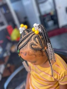 Black Baby Girl Hairstyles, Black Kids Braids Hairstyles, Little Girls Natural Hairstyles, Cute Toddler Hairstyles, Kid Hairstyles, Toddler Braid Styles, Little Girl Braid Styles, Little Girl Braids, Braids For Kids