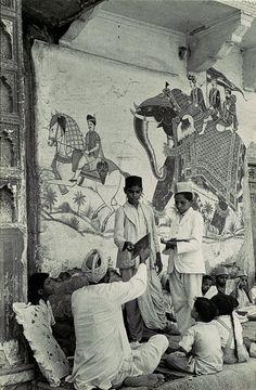 India. Pavement School, Jaipur, 1948 // photo by Henri Cartier-Bresson
