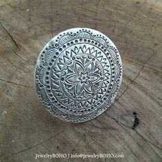 BOHO-Gypsy ring-Hippie ring-Bohemian ring-Statement ring R001 JewelryBOHO-Handmade sterling silver BOHO Tribal ring