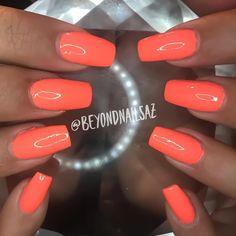 Perfect summer color #summer #mesanails #gilbertnails #aznails #nailsalon #nails #beyondnailsaz #acrylic #acrylicnails #nailsbykatie #gelmanicure #gelish #gelnails @katie.arpaia