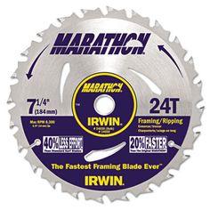 IRWIN Marathon Portable Corded Circular Saw Blade 24030 #24030 #IRWIN #SawPartsandAccessories  https://www.officecrave.com/irwin-24030.html