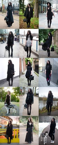 Fashion blogger Stephanie of FAIIINT best of 2013 favourite outfits. All black everything, gothic, street style, dark, sci fi.