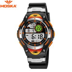 HOSKA Fashion Kids Digital Watch Children Luminous Sports Watch Student Waterproof Chronograph Calendar LED Digital Wristwatch