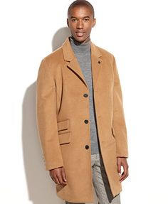Vince Camuto Wool-Blend Water-Repellent Top Coat