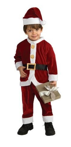 Spread Holiday Cheer. Get ready for Christmas this year by getting this adorable Santa costume for your child. This festive creation brings the holidays straight to your home.