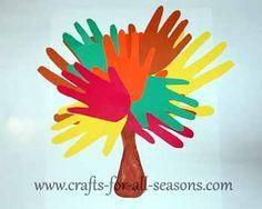 DIY Kids Crafts : DIY Handprint Tree