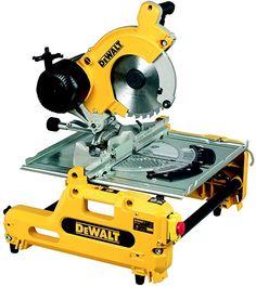 DeWalt Combination Saw Cool Tools, Diy Tools, Hand Tools, Metal Chop Saw, Kapp- Und Gehrungssäge, Miter Saw Reviews, Miter Saw Table, Dewalt Power Tools, Woodworking Power Tools