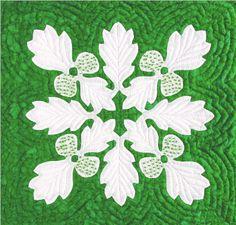 "The QuiltsHawaii.com Hawaiian Quilt Gallery - #5 Designs from Cat Nap Quilts...the Hawaiian Way - BREADFRUIT 18"""