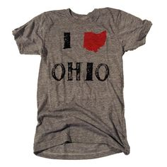 I Love Ohio Tee. $28.00, via Etsy.