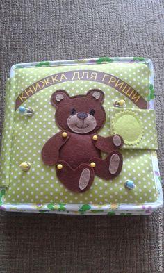 Купить Именная развивающая книжка - разноцветный, ткань хлопок, фетр корея, фетр, развивающая игрушка
