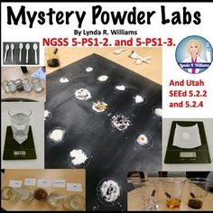 Teaching Science With Lynda: Mystery Powder: Make Observations and Measurements to Identify Materials Based on Their Properties. Science Resources, Science Lessons, Teaching Science, Teacher Resources, Science Education, 5th Grade Science, Elementary Science, Elementary Schools, Upper Elementary