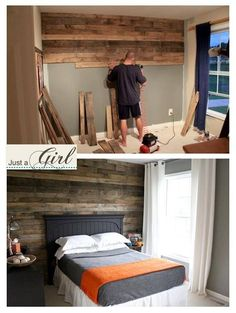 Would love this wood wall