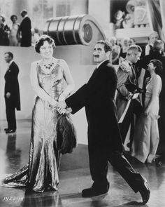 """Margaret Dumont and Groucho in """"Duck Soup."""""""