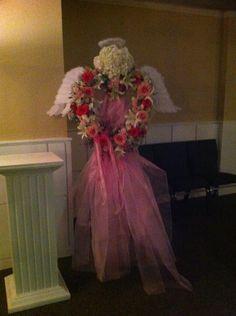 Grave Decorations, Sympathy Flowers, Funeral Flowers, Floral Arrangements, Angel, Flower Arrangement, Flower Arrangements, Garland, Angels