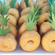 Doughnut Pineapples | Collected by Kit & Caboodle Parties | Fab Kids' Party Food | Tropical Party Ideas |