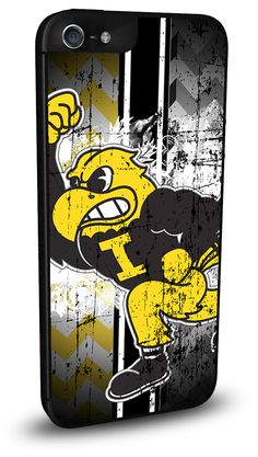 Iowa Hawkeyes Cell Phone Hard Case for iPhone 6, iPhone 6 Plus, iPhone 5/5s, iPhone SE, iPhone 4/4s or iPhone 5c