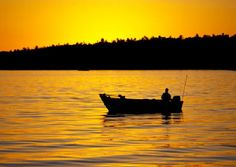Fishing in Eagle River, Wisconsin