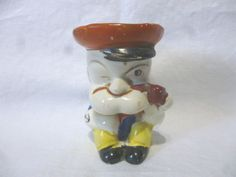 VINTAGE 1930/40 s art deco era POPEYE NOVELTY CHARACTER EGG CUP stamped FOREIGN