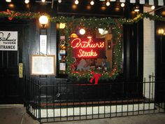 Arthur's Steakhouse Hoboken NJ... Rumor has it that the upstairs bathroom is haunted.