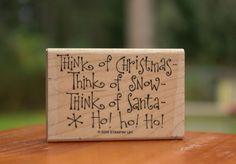 Think of Christmas of Snow of Santa Ho! Ho! Ho! Wood Mounted Rubber Stamp 2005  | eBay