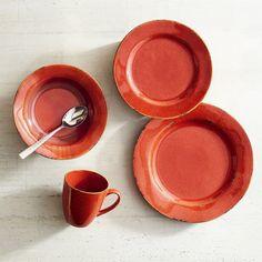 Hacienda de Vida Brick Red Dinnerware