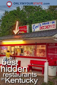 These hidden restaurants may not have all the popularity of some places to eat in Kentucky, but they are wonderful local secrets. Kentucky Attractions, Kentucky Vacation, Kentucky Camping, Kentucky Food, Kentucky Bourbon Tour, Vacation Places, Vacation Trips, Places To Travel, Vacation Spots