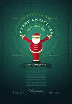 Santa Claus Greeting Design For Christmas — JPG Image #red #vector • Available here → https://graphicriver.net/item/santa-claus-greeting-design-for-christmas/9523474?ref=pxcr
