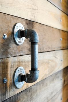 Pipe door handle